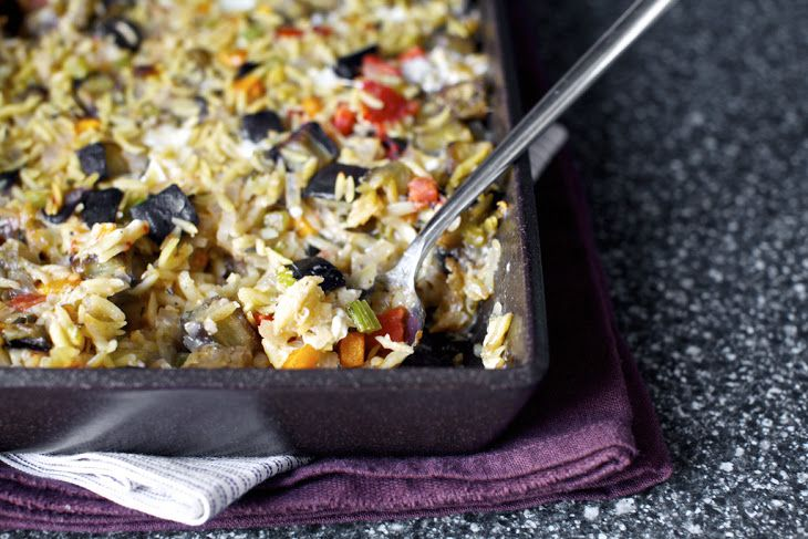 Baked Orzo with Eggplant and Mozzarella | Recipes | Pinterest