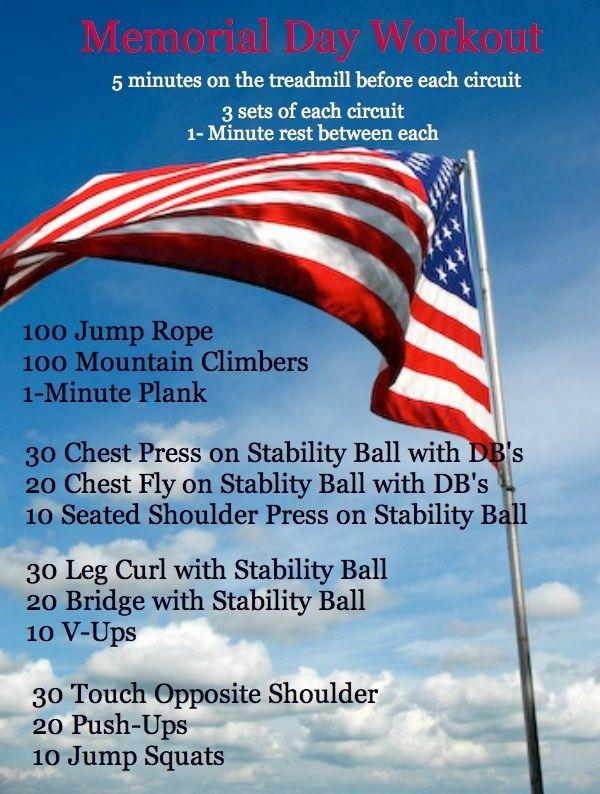 memorial day fitness challenge