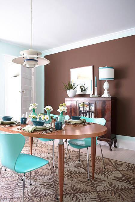 Best Chocolate Brown And Turquoise Dining My Dining Room 400 x 300