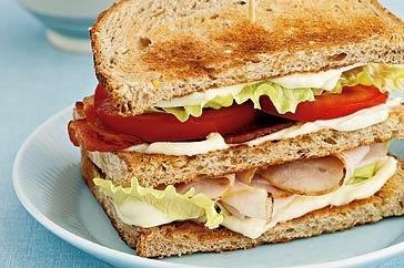 Classic turkey club sandwich (serves two)
