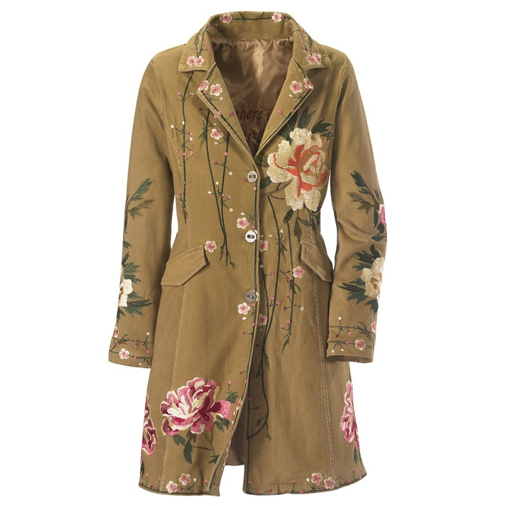 Earth Embroidered Coat