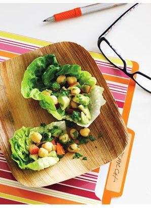 Chickpea Salad in Crisp Lettuce Wraps   Grains - Rice - Beans - Legum ...