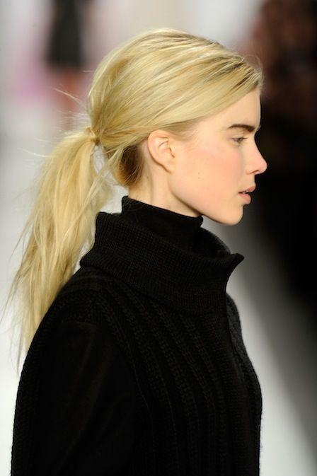 Ponytails at Tibi Fall 2012 #Beauty #Hair