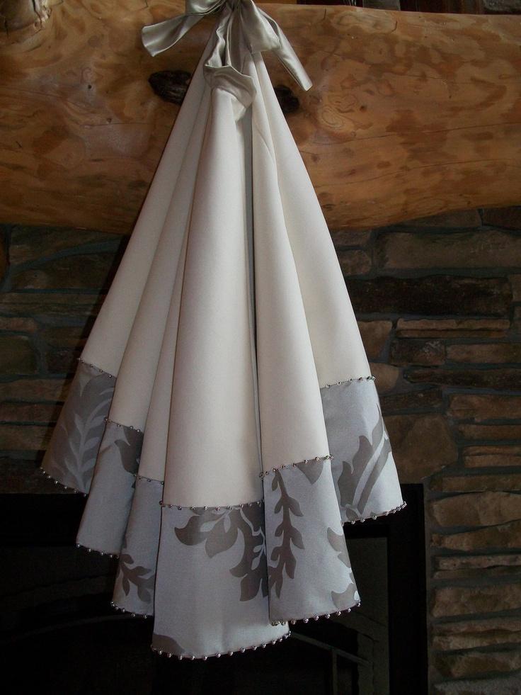 Tree Skirts - 56 White Velvet Santa Tree Skirt