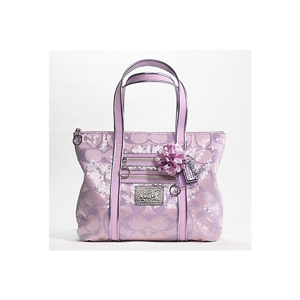 Lavender Purple Violet Coach tote purse handbag found on Polyvore