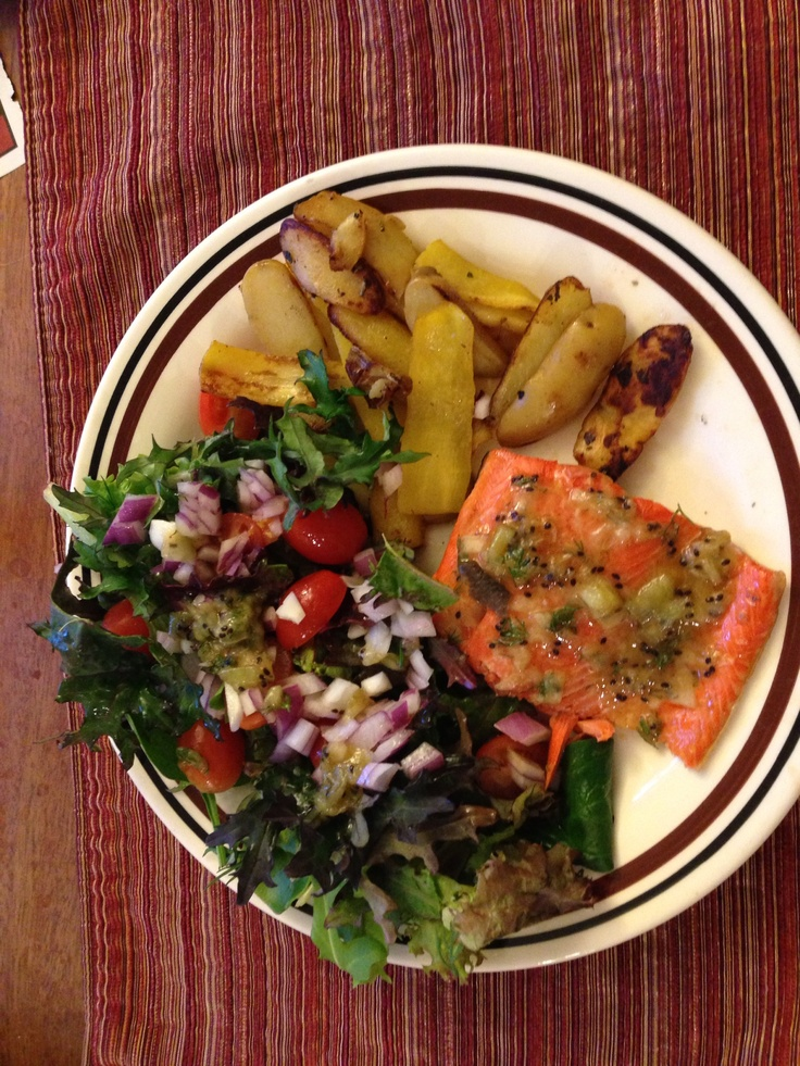 ... glaze, heirloom carrots and fingerling potatoes roasted with rosemary