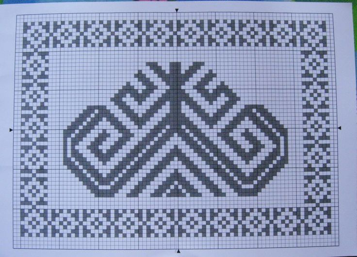 Вышивка крестом оберег рожаница 68