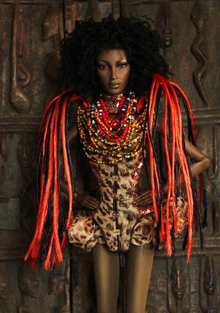 African Barbie Ethnic Fashion Pinterest