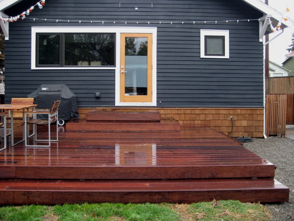 great small back deck w/ string lights Backyard Pinterest