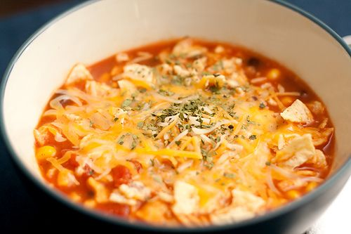 Tortilla Soup with Black Beans | Other Food | Pinterest