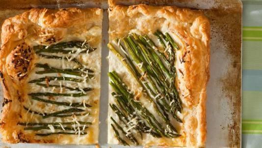Asparagus Parmesan Puff Patry Tart | Cooking--Savory | Pinterest