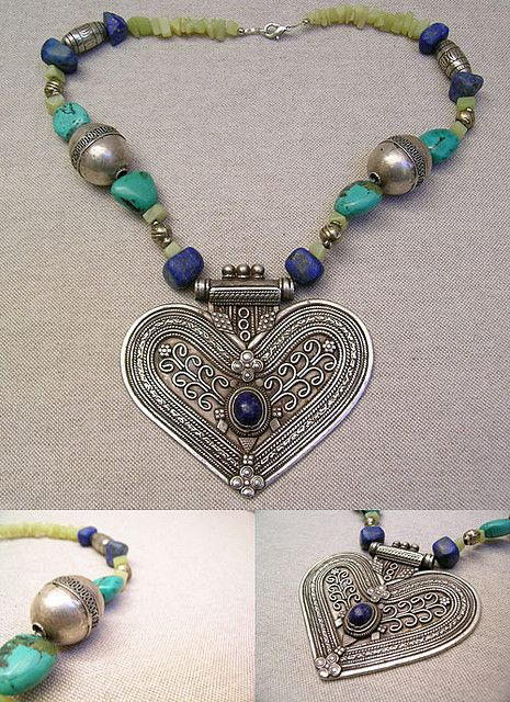Ethnic Heart Necklace