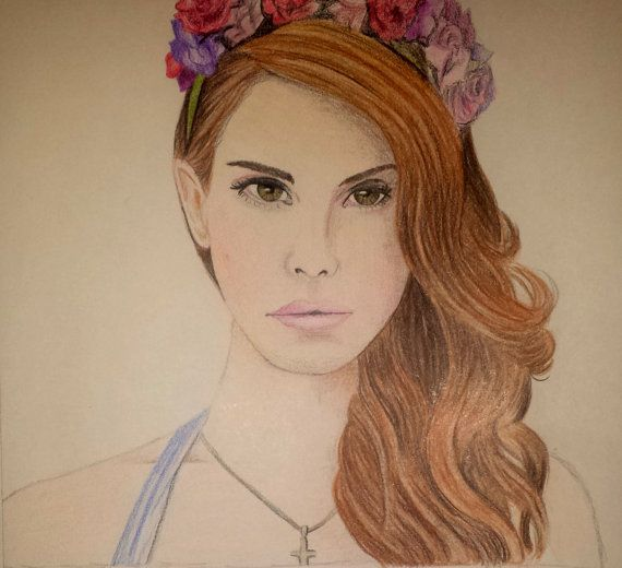 Lana Del Rey - Video Games Album Cover - Colored Pencil ...