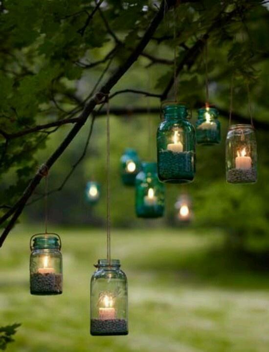 Diy mason jar hanging lanterns for the home pinterest for Hanging candles diy