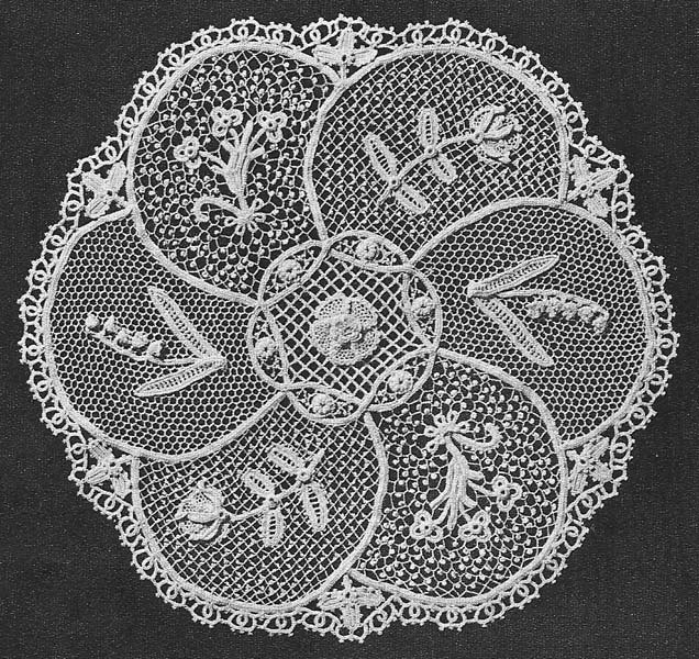 Free Vintage Irish Crochet Patterns : 1955 Irish Lace Sampler Doily Vintage Crochet Pattern PDF 057