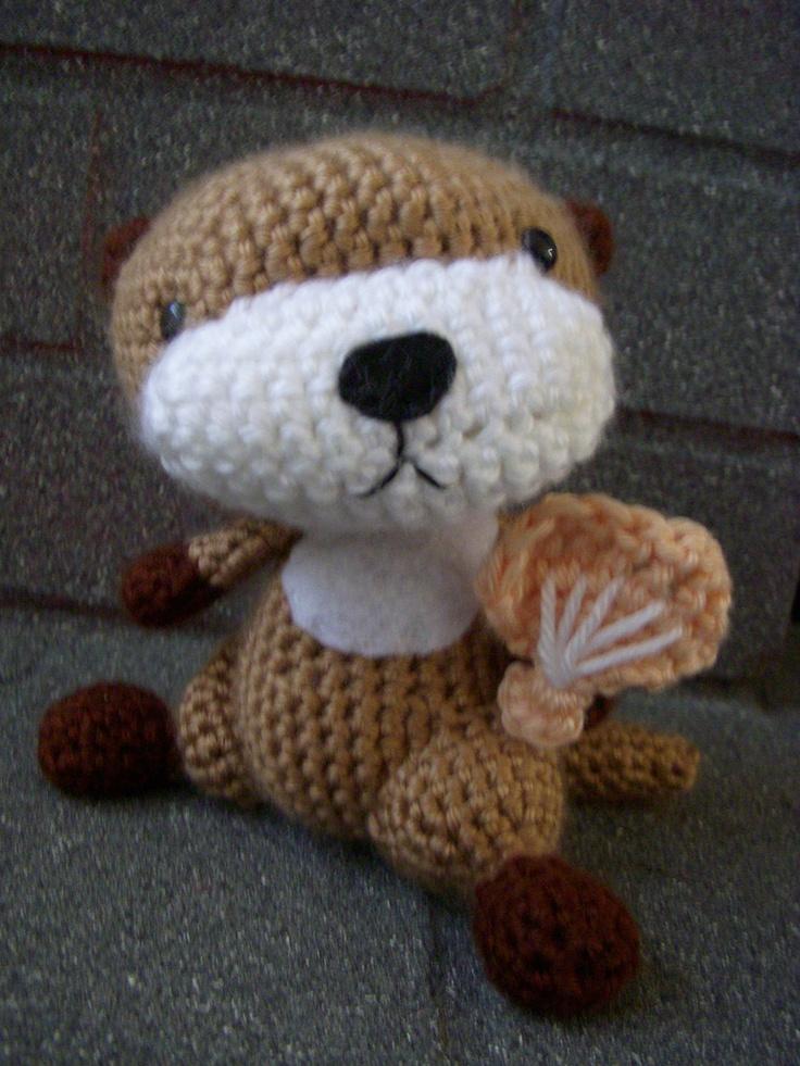 crochet otter Crafts Pinterest