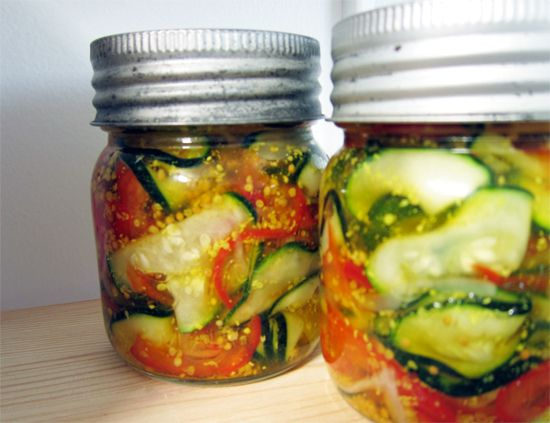 zucchini pickles, cafe zuni style by you can count on me, via Flickr