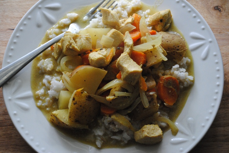 Curry Coconut Chicken with Basmati Rice.   Food-Hug Recipes.   Pinter ...