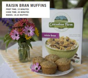 Raisin Bran Muffins - to use all the crumbs left in the bag...