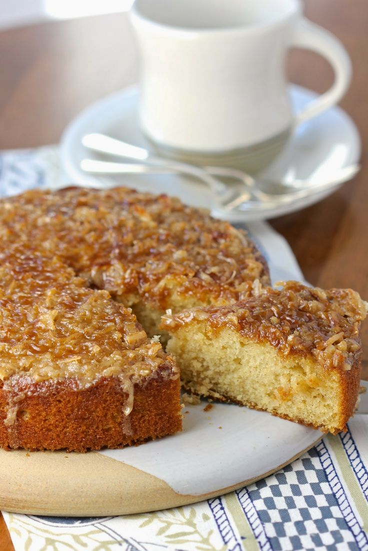 feather light, nutmeg-scented cake with an old-fashioned, broiled ...