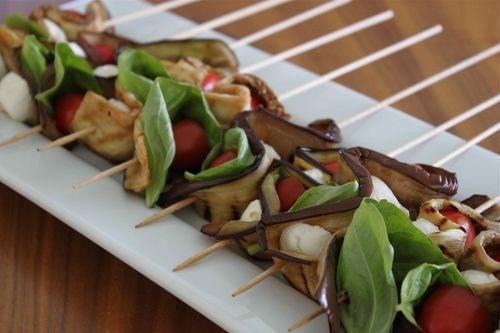 Eggplant Caprese Skewers | Skewers | Pinterest