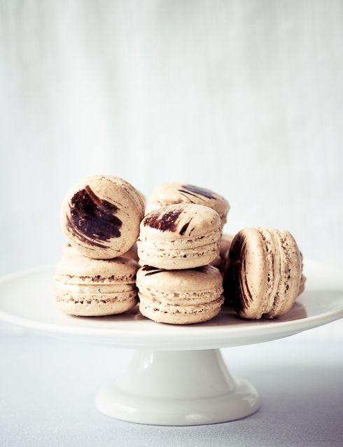 Coffee Chicory Macarons Recipe — Dishmaps