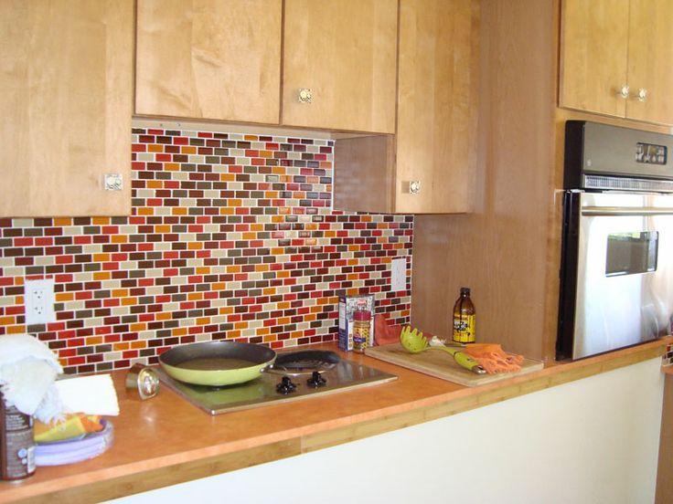 like the orange and red kitchen backsplash pinterest