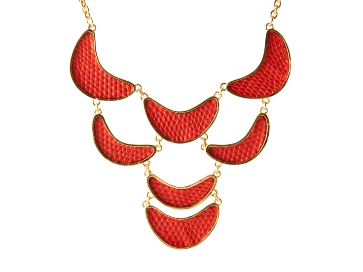 As seen on The Martha Stewart Show: Kara by Kara Ross Crescent Bib Necklace