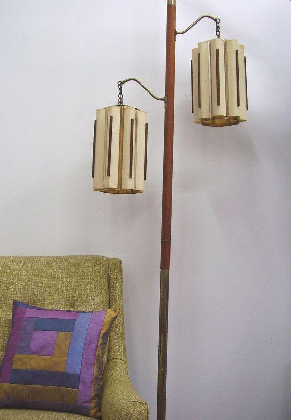 danish modern mid century modern tension pole lamp. Black Bedroom Furniture Sets. Home Design Ideas