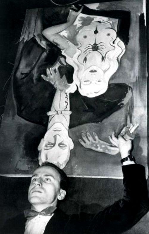 Roland d'Ursel - Portrait de Boris Vian, ca. 1950