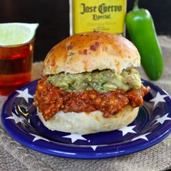 Tex-Mex Sloppy Joes - A spicy pork & chorizo version of that kid ...
