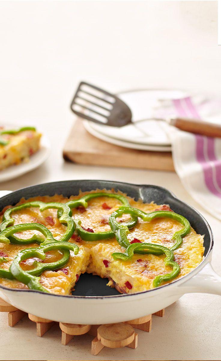 Potato & Pepper Frittata — This creamy, cheesy skillet-cooked potato ...