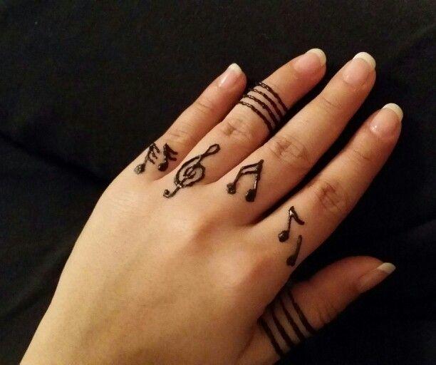Music Notes Henna  Tattoos Amp Henna  Pinterest