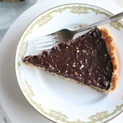 Bittersweet Chocolate Hazelnut Tart | Delicious Receipes | Pinterest