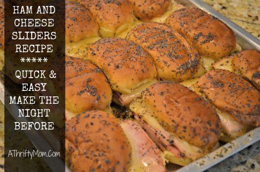 ham and cheese sliders recipe