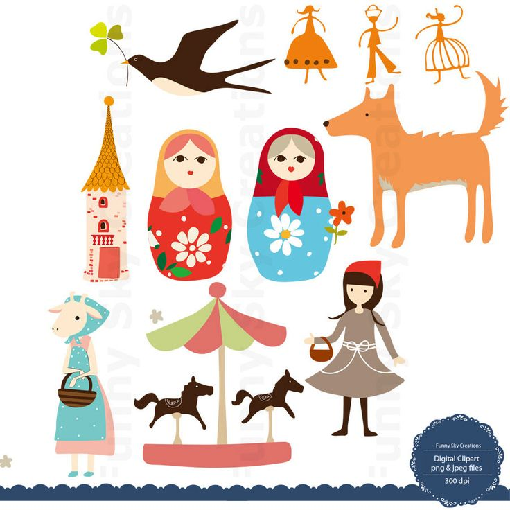 fairy tales clip art   Forest animals and fairy tales   Pinterest