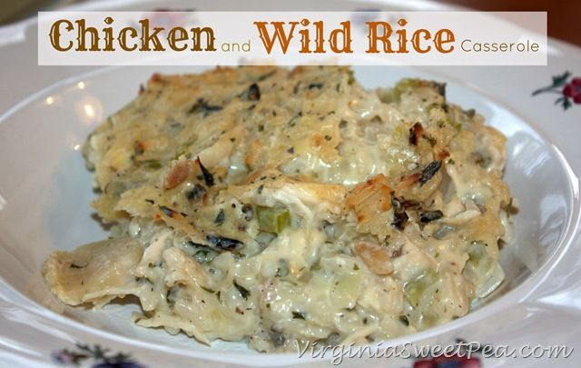 Easy Comfort Food :: Chicken and Wild Rice Casserole | Recipe