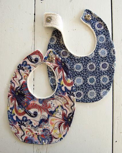 Pattern to make your own baby bibs liberty bibs the purl bee