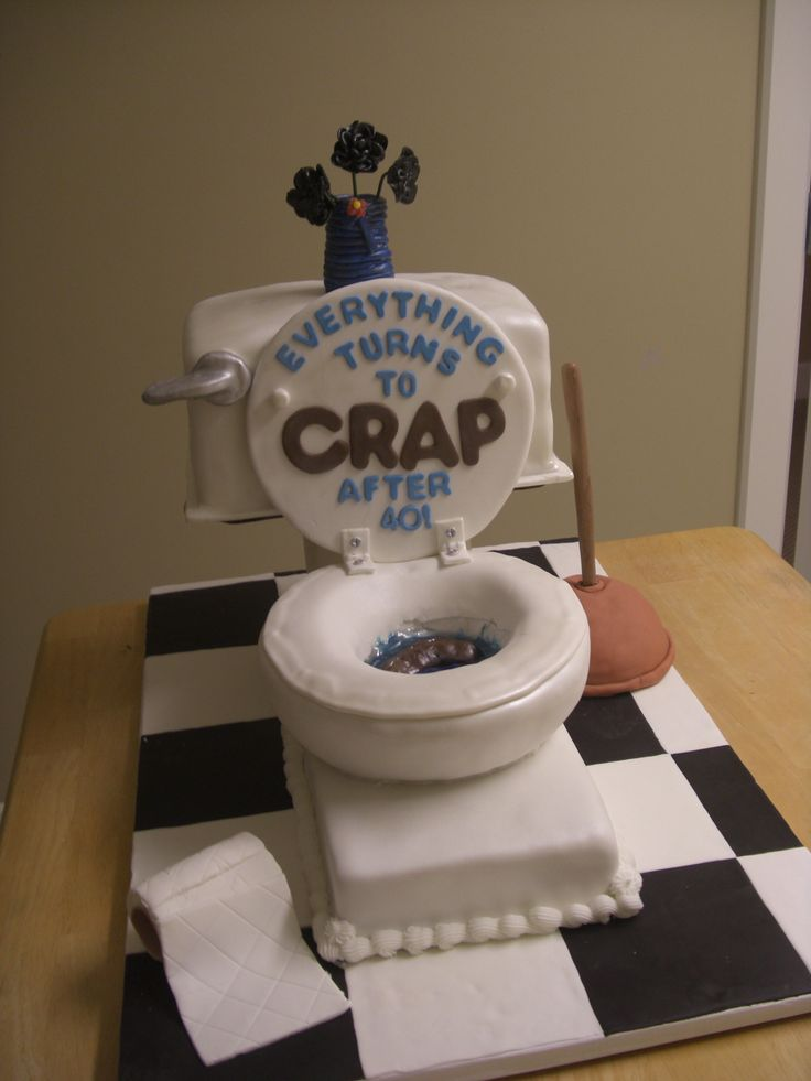 40th Birthday Toilet Cake To do Pinterest