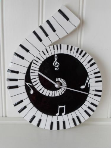 Musical Clock Piano Pinterest