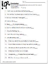 Ending Punctuation Worksheets