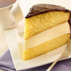Boston Ice Cream Pie Recipe on Yummly | Cakes & Cupcakes | Pinterest
