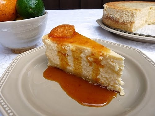 Orange cheesecake with caramel sauce | Cake or death?....mmmm cake pl ...