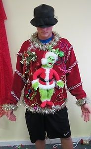 Ugly christmas sweater grinch christmas pinterest