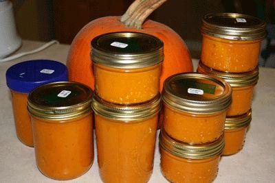 Pumpkin canning