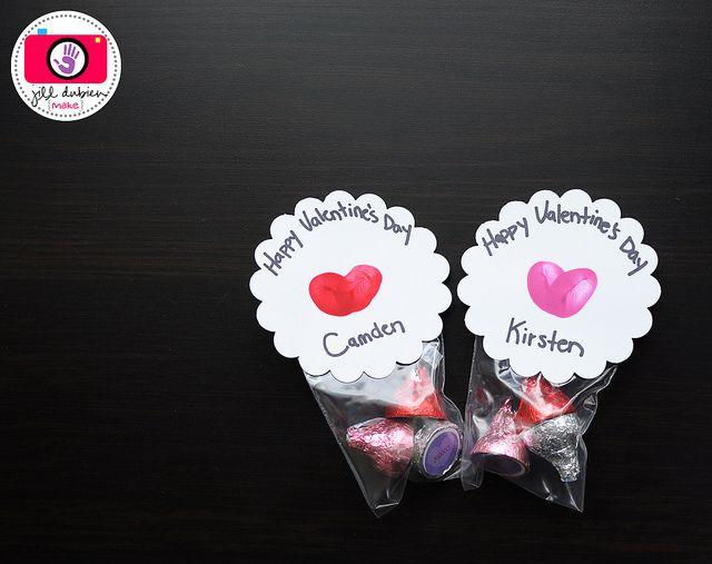 child's thumbprint hearts...cute idea