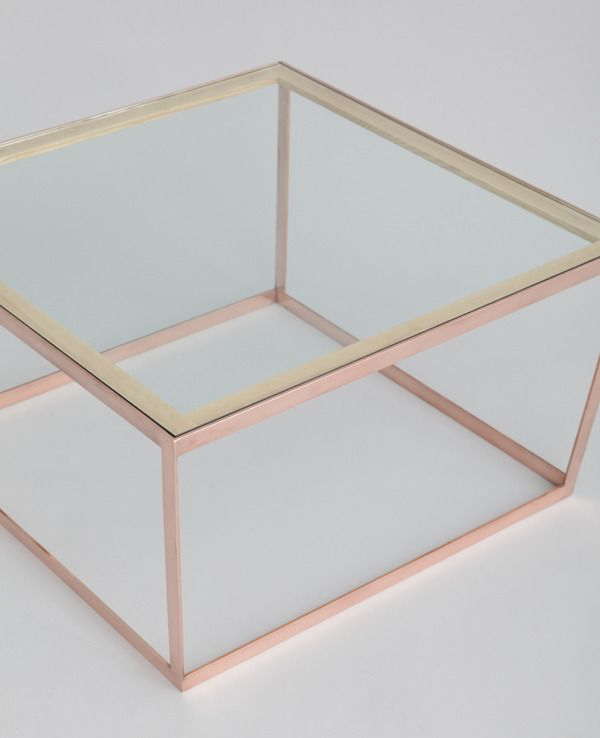 Iacoli Mcallister Frame Coffee Table In Copper