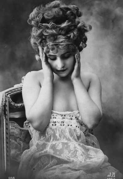 Lost in Thought Gorgeous 1910s Jean Angelou Paris postcard