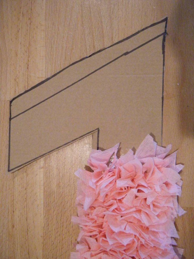Цифра из картона и гофрированной бумаги как сделать