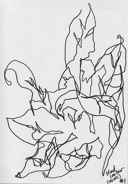 What Is Blind Contour Line Drawing : Blind contour drawing art pinterest